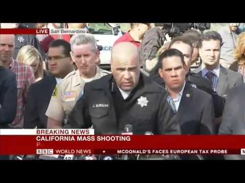 BBC News rolling covering of San Bernardino mass shooting in December 2015