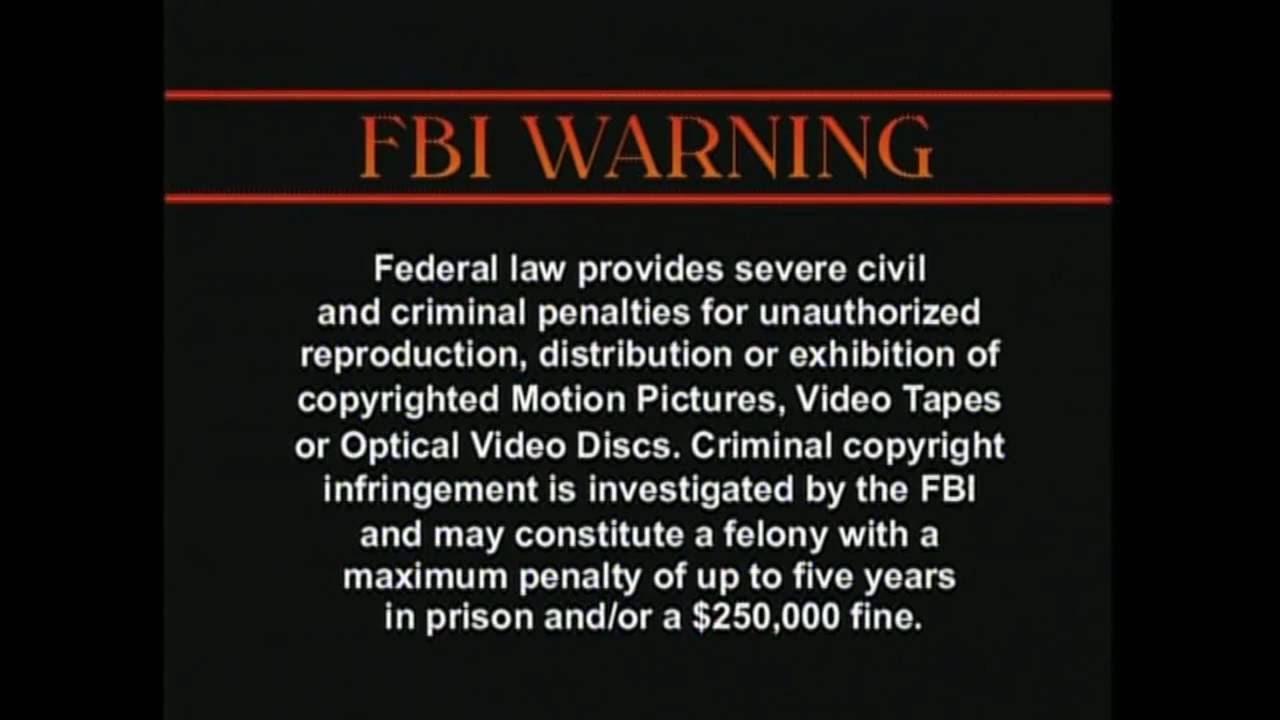more fbi copyright warnings! youtube  more fbi copyright warnings!