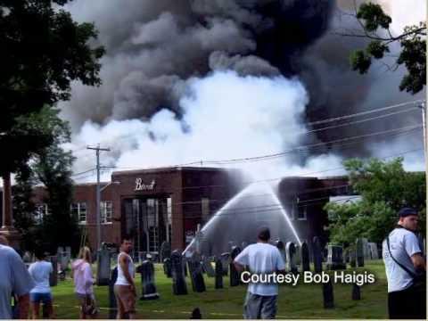 Major Fire: Bernat Mill, Uxbridge, Massachusetts, July 21, 2007 - YouTube
