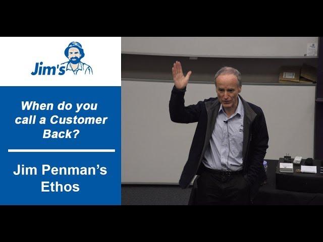 #JIMS When should you call a customer back? with Jim Penman | www.jims.net | 131 546 |