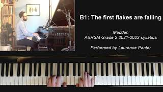 B:1 The first flakes are falling (ABRSM Grade 2 piano 2021-2022)