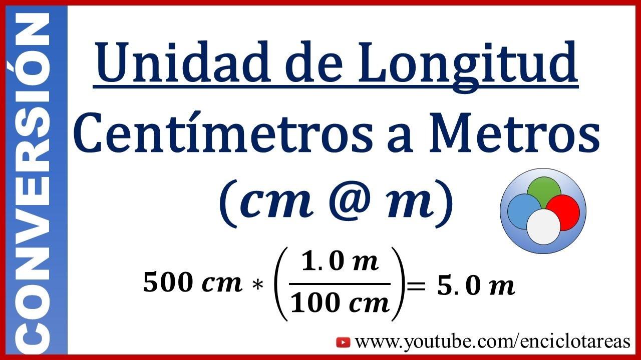 Convertir Centimetros A Metros Cm To Meter Youtube