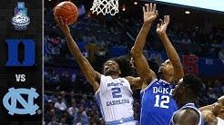 Duke vs. North Carolina ACC Basketball Tournament Highlights (2019)