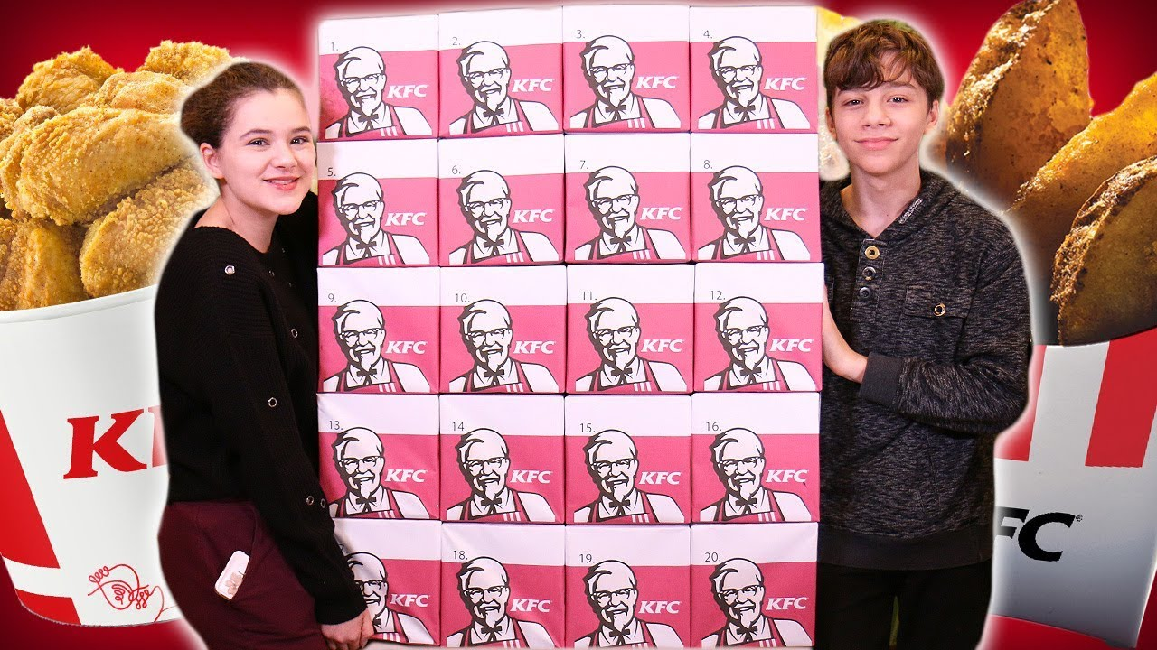 Giant Kfc Advent Calendar 2018 Everything On The Menu
