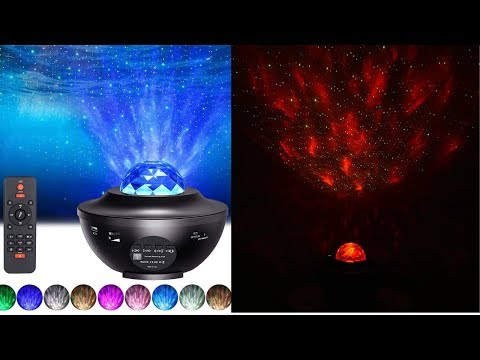 Galaxy Starry Night Lamp LED Star Projector Night Light Ocean Wave Projector KC