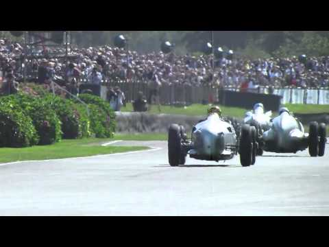 Goodwood Revival Silver Arrows Demonstration 15 - 09 - 12 Auto Union Mercedes Benz