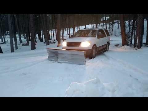 Wooden snow plow