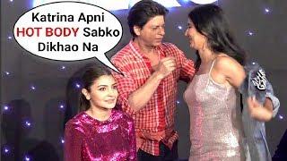 Shahrukh Khan REMOVES Katrina Kaif Jacket On Stage At ZERO Trailer Launch