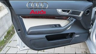 Audi A6, S6, RS6, Allroad C6/4F 2004-2011, Door Panel Removal - How To Remove the Door Panel