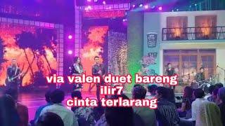 Via valen duet bareng ilir7 lagu cinta terlarang di gedung mnc tv