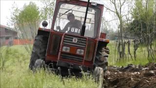 """Aratura aprile 2013 con Fiatagri 70-90 """"La furia"""""""