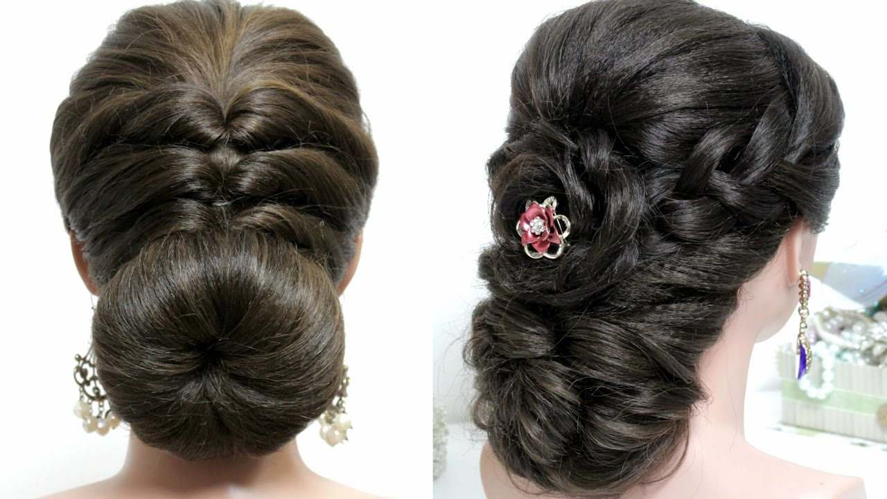Easy Styles For Long Hair: 2 Easy Hairstyles For Long Hair Tutorial. Prom Updos