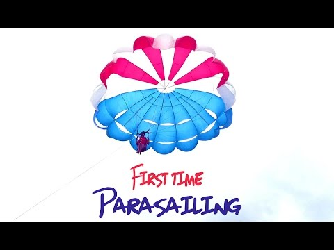 Travel adventure - First time parasailing - The Bahamas