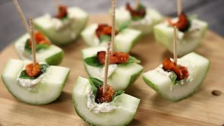 Cheese And Cucumber Canapes | Sanjeev Kapoor Khazana