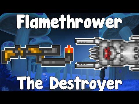 Flamethrower VS The Destroyer - Pyrotechnics Challenge - Weapon VS Bosses