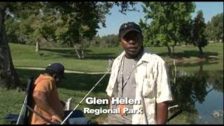 Fun activities at Glen Helen Regional Park, San Bernardino County, California
