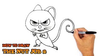 How to draw Mr Feng cute from The Nut Job 2 Movie 2017 - [KidsLV]
