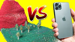 iPhone 11 Pro vs 150,000 Match Volcano - VOLCANO ERUPTION