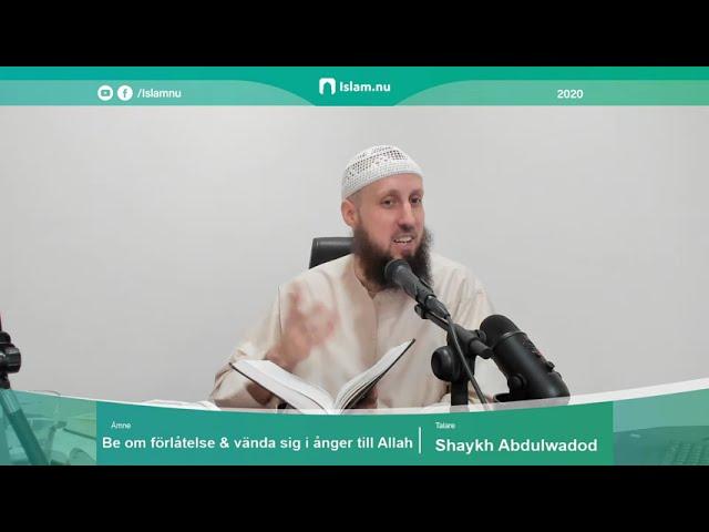 Att be om förlåtelse och vända sig i ånger till Allah