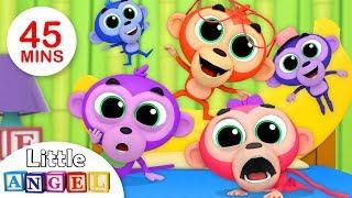 Five Little Monkeys | Humpty Dumpty, Itsy Bitsy Spider | Kids Songs & Nursery Rhymes by Little Angel