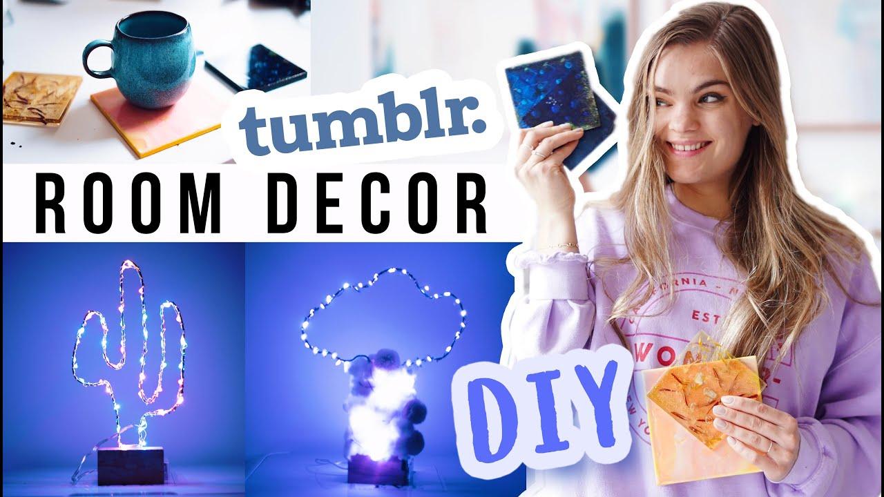 3 tumblr diy room deko ideen f r dein zimmer i 39 mjette youtube. Black Bedroom Furniture Sets. Home Design Ideas
