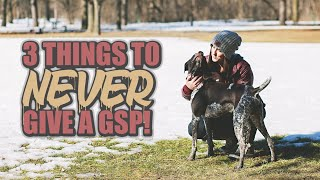 3 Things to Never Give a GSP