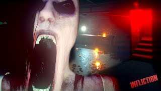 SHE WAS IN MY BASEMENT! || Infliction Horror Game