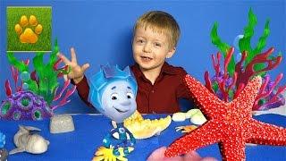 Морские Животные для Детей с Фиксиками Нолик и Морская Звезда  Детям про животных Видео для детей