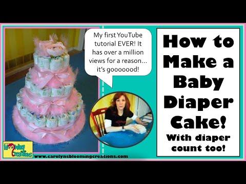 Carolyn Dens Toie How To Make Baby Diaper Cake