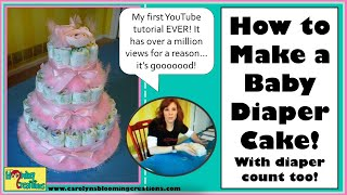 Carolyn Braden's Toie: How To Make A Baby Diaper Cake!
