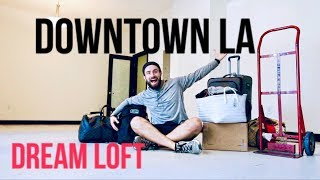 DOWNTOWN LA LOFT move-in tour