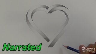 How To Draw An Impossible Heart - 3D Heart - Impossible Shapes (Narrated)