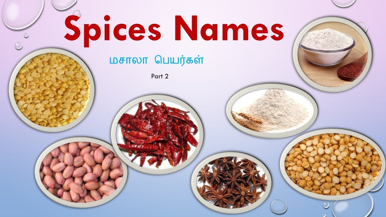 Spices Names In Tamil And English With Picturesindian -8020