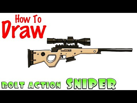 How to Draw the Bolt Action Sniper Rifle | Fortnite