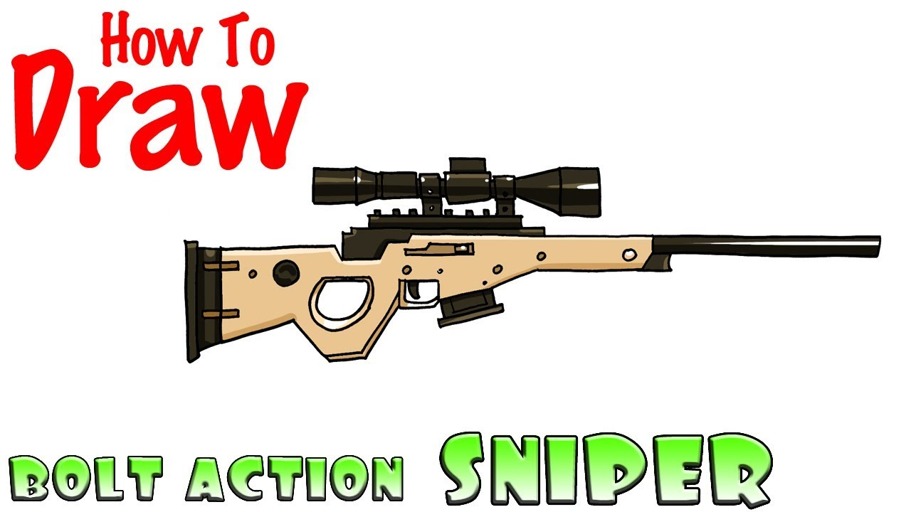 How To Draw The Bolt Action Sniper Rifle Fortnite Youtube