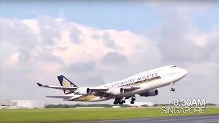 B747 Farewell Flight from Singapore to Hong Kong | Singapore Airlines