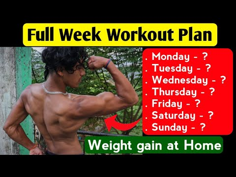 Full Week Workout Plan for Weight Gain – Workout plan for beginners | Anish Fitness