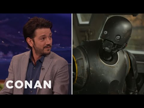 "Diego Luna Got A Lot Of Face Time With Alan Tudyk In ""Rogue One  - CONAN on TBS"