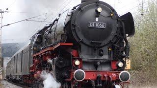 世界の蒸気機関車動画 ドイツ01 1066 3シリンダー爆走 ドイツ鉄道175周年記念イベント