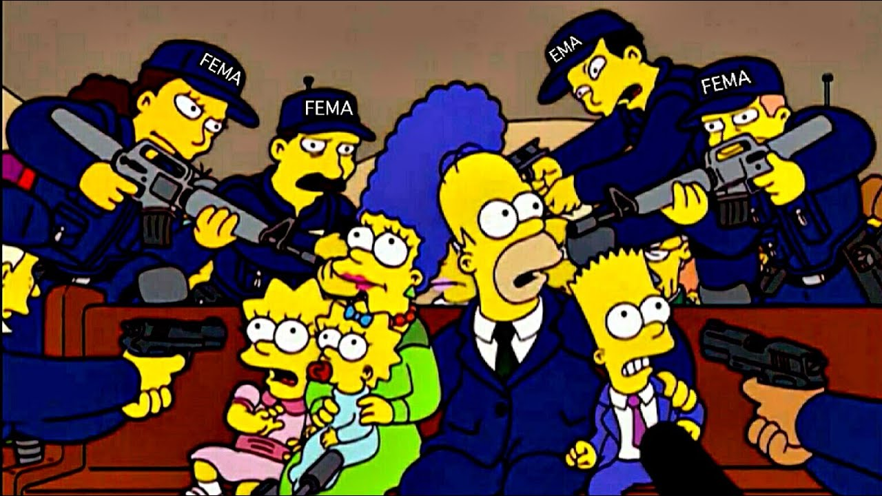The Simpsons Iphone Wallpaper The Simpsons Fema Warning Youtube