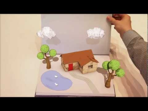 Pop up Paper book - Cinema 4d