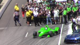 Danica Patrick 2018 Indy 500 Bump Day--- QUALIFIES FOR THE FAST 9 --- PURE SOUND And CROWD REACTION