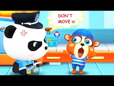 LITTLE PANDA POLICEMAN ! Fun Baby Game = Train The Observation Skills + Educational Children Games