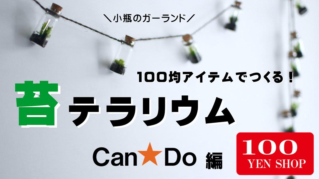 【100均苔テラリウム】100均アイテムを使った苔テラリウムガーランドの作り方/CanDoキャンドゥ編
