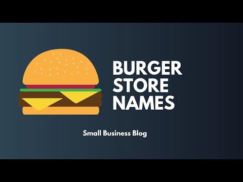 Creative Burger Store Names