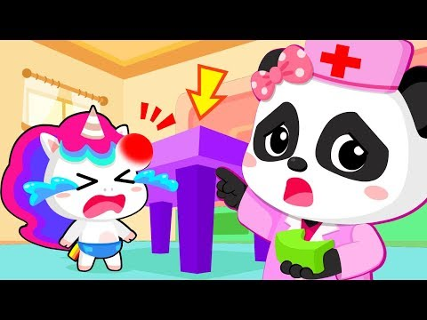 Baby Unicorn Got Injured | Play Safe Song | Doctor Cartoon | Nursery Rhymes | Kids Songs |BabyBus