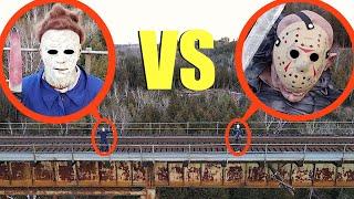 تمسك طائرة بدون طيار بجيسون فورهيس ضد مايكل مايرز (إنهم يقاتلون ولن تصدق ما يحدث!)