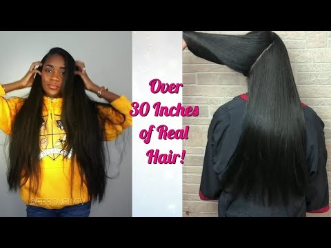 Black Girls Got Inches!   Silk Press Compilation Real Hair