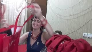 Розпакування замовлення серпень 19г. Я отримала подарунки! Червоний піджак і червону сумку!