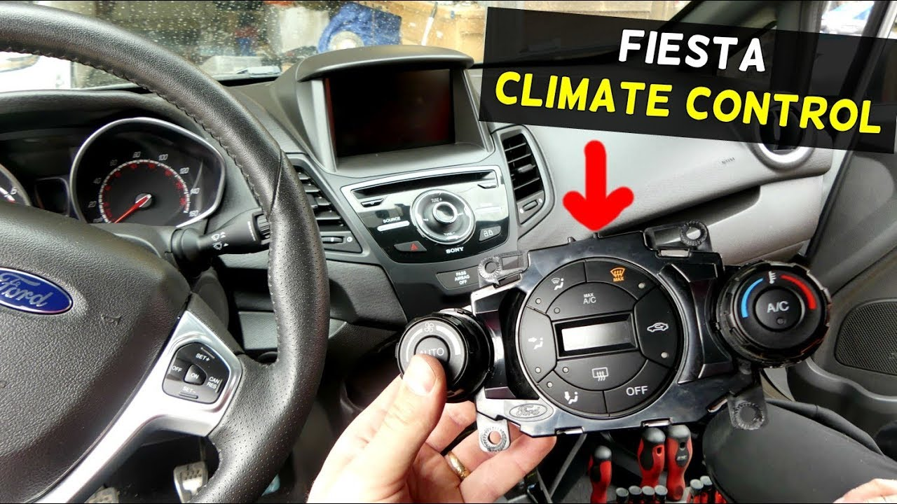 FORD FIESTA CLIAMATE CONTROL SWITCH REPLACEMENT REMOVAL ST S